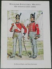 INFANTRY MILITIA BUTTONS - British Army Regiments Uniforms History 1757-1881