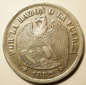 CHILI : 1 PESO ARGENT 1882