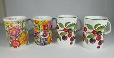 More details for reduced > roy kirkham 4 mugs fruit garden pansy old chelsea fine bone china