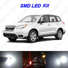 8x White LED Interior Bulbs + License Plate Lights for 1998-2017 Subaru Forester
