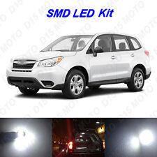12x White LED Interior Bulbs Fog Reverse Tag Light for 2015-2017 Subaru Forester
