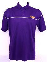 New Louisiana Tigers LSU Purple Columbia Golf Omni-Wick Breaker Polo Men's XL