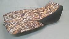 Yamaha YFM660 Grizzly 660 Seat Cover 2-tone FLOODED TIMBER & BLACK front sides