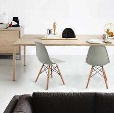 Pack de  4 sillas con patas de madera Sillas de comedor nórdicas Gris