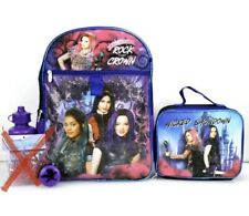 "DISNEY Descendants 3 ROCK the CROWN 16"" BACKPACK & LUNCH Bag *4 Piece ! NWT"