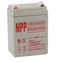 NPP 12V 2.6 Ah Rechargeable Sealed Lead Acid Battery For Audio Emergency Light