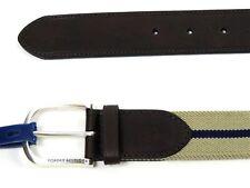 "Tommy Hilfiger Men's Stretch Belt Leather & Canvas 1 3/8"" Wide Size XL 42/44"