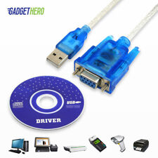 Db9 9 Pin Serial Rs232 Female to USB Com Port Converter Adapter Cable Lead Ch340