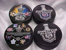 2017 NHL Stanley Cup Playoffs Columbus Blue Jackets Hockey(4) Puck Souvenir Pack