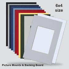 6X4 INCH PHOTO MOUNTS FOR 2.5X3.5 PACK OF 5 Choice COLOURS INCL Backing Boards