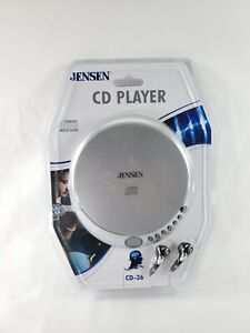 NEW! Retro Jensen CD Compact Disc Player- Sealed in Package- CD-36- Silver - New