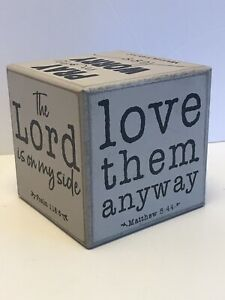 Inspirational Quote Cube Decoration Religious Quotations Wood Nice Deco