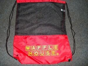 L@@K Waffle House gear bag / back pack Red & Black NEW