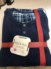 Merona  Pajama Set Men's 2XL Henley Shirt & Pants NEW w/TAGS Navy/Plaid