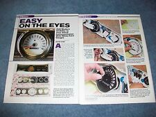 How To Tech Info Article on installing Scott Drake White Face Gauges Mustang