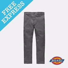 Dickies Men's 803 Slim SKINNY Work Pant Cotton Spandex Brown 30 Gravel Grey WP803VGRY