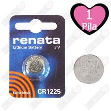 1 CR1225 Renata Batteria, Cella Singola,Pila al Litio,48 mAh 1225