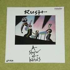 RUSH A Show Of Hands - RARE 1989 JAPAN LASERDISC (VAL-3105)