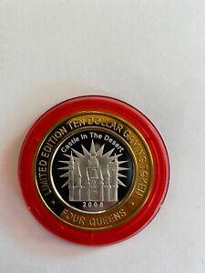 Four Queens, Las Vegas - $10.00 Silver Strike - Red Cap - Castle in the Desert