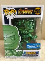 Funko Pop! Marvel Avengers Infinity War THANOS Green Chrome Walmart Exclusive