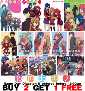 Toradora Poster Anime Manga Wall Art Print Home Decor A3 A4 5x7 Satin Matt Gloss