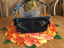 Coach Black Leather Clutch with Silver Hardware A06S-3551