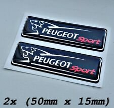 2x  Peugeot Sport  Logo Symbol 3D Aufkleber für Innen oder