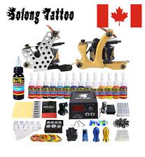 Solong Tattoo Complete Starter Beginner Tattoo Kit 2 Pro Machine Guns 14 Inks Po
