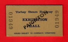 Torbay Steam Railway Ticket ~ Admission to Exhibition Hall: Paignton - 1979