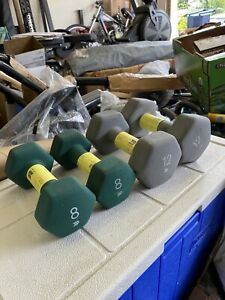 Neoprene Dumbbell 8 LB & 12 LB Set (40LB Total) - Workout Gym FAST SHIPPING