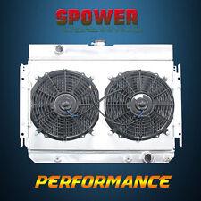 3 Row Aluminum Radiator+Fan Shroud For Chevrolet Bel Air Biscayne Chevelle 63-68