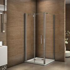 80x76x185cm Cabine de douche pivotante pliante Pario de douche avec barre 90cm