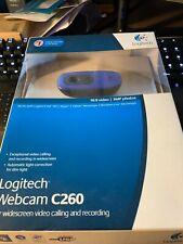BRAND NEW SEALED blue Logitech C260 Web Cam
