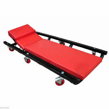 BIG RED CAR CREEPER Folding Headrest Padded Garage Inspection Trolley Mechanics
