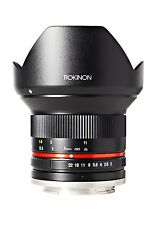 New Rokinon 12mm F2.0 Ultra Wide Angle Black Lens for Sony E Mount RK12M-E
