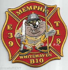 """Memphis  Engine-39 / T-18 / B-10  """"Whitehaven"""", TN (4"""" x 4"""" size) fire patch"""