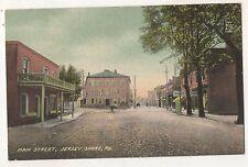 Main Street, JERSEY SHORE PA Vintage Pennsylvania Postcard