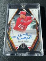 2021 TOPPS TRIBUTE JUAN SOTO AUTO SSP #/25 NATIONALS ON CARD AUTOGRAPH