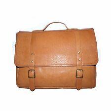 Tough Genuine Leather  Stylish Mens Messenger Laptop Bag Briefcase for Mens/Boys