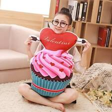 50cm Love Valentine/Kids 3D Simulation Ice Cream Cake Sofa Pillow Plush Cushions