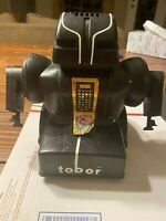 Tobor Robot - Vintage - 1978 - Schaper Telesonic- Black - For Parts / Repair