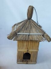 Vintage Natural Straw House Hanging Decor Possible Bird House Nest
