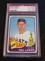 1965 Topps #118 Hal Lanier AS ROOKIE GIANTS PSA 8.5 NM-MT+  PHENOMINAL!