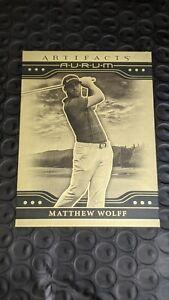 2021 Upper Deck Artifacts RC Matthew Wolff INSERT AURUM GOLD SP PGA