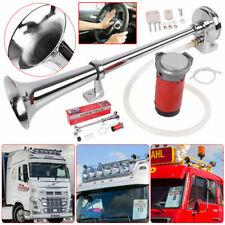 150db Chrome Super Loud Single Trumpet Air Horn Kit Truck Lorry Boat Train 12V