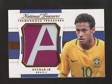 2018 National Treasures Soccer Tremendous Neymar Jr. Jumbo Patch 7/35