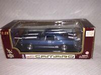 Road Legends 1967 Chevrolet Camaro Z-28 Muscle Car Blue ~ Scale 1/18 ~ Die Cast~
