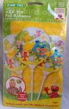 SESAME STREET 3 PACK EZI-FILL FOIL BALLOON  Inflate With Air No Helium Required!