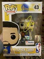 STEPHEN CURRY GOLDEN STATE WARRIORS SIGNED FUNKO POP #43 LTD EDITION 4 Of 100