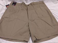 Men's Roundtree And Yorke Flat Front Khaki Shorts Size 48 Big Man